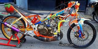 modifikasi motor drag liar ninja r 150