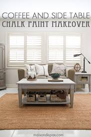 gray chalk paint coffee and side table