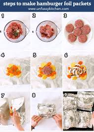 hamburger foil packets unfussy kitchen