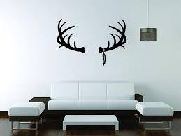 Deer Horn Wall Mural Vinyl Decal Sticker Decor Car Hunting Etsy