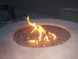 gas fire pit with the fire glass