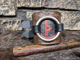 norse viking rune tooled leather