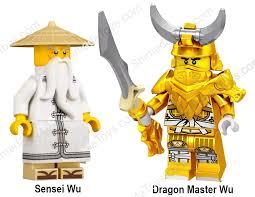 LEGO Ninjago Dragon Armor Master Sensei Wu Young and Old Hunted Minifigure  Set - Shimada's Toy Store