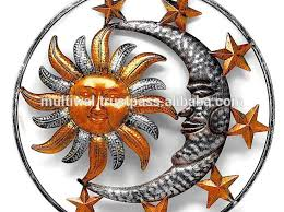 sun and moon metal garden wall art