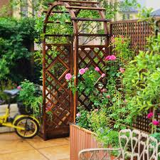 Usd 93 26 Outdoor Courtyard Carbonized Solid Wood Arch Garden Fence Door Grape Rack Plant Rack Arch Climbing Vine Flower Shelf Wholesale From China Online Shopping Buy Asian Products Online From