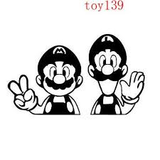 2020 Mario And Luigi Peace Hello Vinyl Funny Goodlooking Car Decals Stickers Window Phone Decal Sticker Reflective Silver Reflective Red From Mysticker 6 03 Dhgate Com