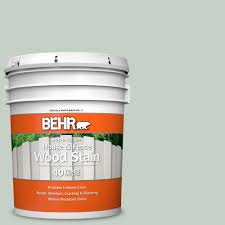 Behr 5 Gal N400 2 Frosted Sage Solid Color House And Fence Exterior Wood Stain 01105 The Home Depot
