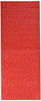 Exborders Com Duro Decal Permanent Adhesive Vinyl Letters Numbers 1 Gothic Red