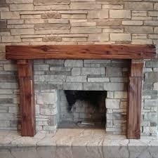 old world timber fireplace mantel