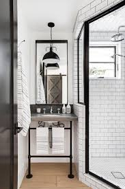 industrial style bathroom with corner