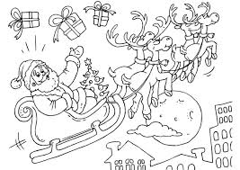 Kleurplaat Kerstman In Slee Gratis Kleurplaten Om Te Printen