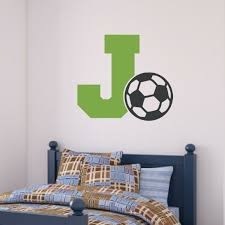 Enchantingly Elegant Letter J And Soccer Ball Wall Decals Wayfair