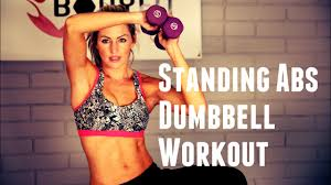 standing abs with dumbbell workout