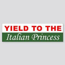 Italian Princess Bumper Stickers Cafepress