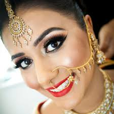 east indian wedding makeup hairstyle