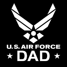 Amazon Com Chase Grace Studio United States Proud Air Force Dad Usaf Military Vinyl Decal Sticker White Cars Trucks Vans Suv Laptops Wall Art 5 5 X 5 Cgs384 Automotive