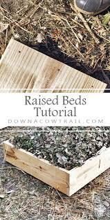 wooden raised beds tutorial easy diy