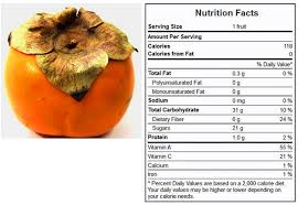 low carb persimmon nutrition