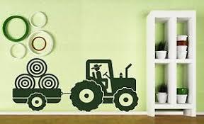 Vinyl Decal Wall Sticker Kid S Tractor Trailer Farm Boy S Room Decoration N180 Ebay