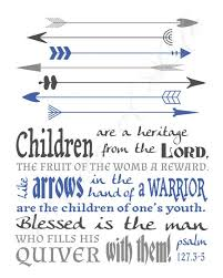 Children Are A Heritage Psalm 127 3 5 Printable Christian Etsy Psalms Christian Art Print Christian Wall Art
