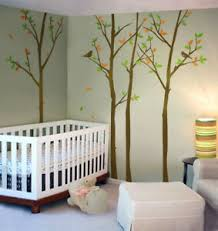 Forest Trees Wall Decal With Birds Winter Trees Decal Nursery Home Decor Ebay