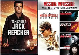 Amazon.com: Tom Cruise Jack Reacher DVD + Mission: Impossible 5 ...