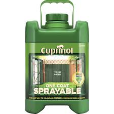 Cuprinol 5l Sprayable Fence Paint Forest Green Leekes