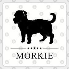 Morkie Black Silhouette Morkie Sticker Teepublic