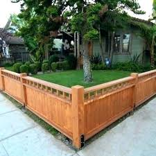front garden side fence height