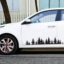 Auto Decal For Suv Rv Diy Car Sticker Forest Tree Mountain Car Decor Black White Pvc Vinyl Decal Car Stickers Decal Car Styling Car Stickers Aliexpress