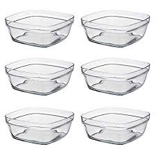 duralex square glass bowl stackable
