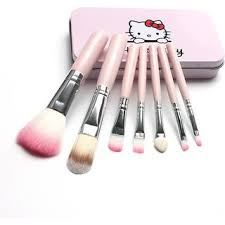 o kitty makeup brush set pink