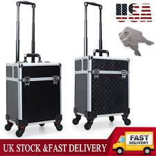 makeup case aluminum trolley cosmetic