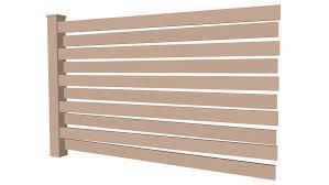 Horizontal Wood Fence 3d Warehouse