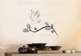Dove Olive Branch Wall Decal