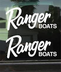 Ranger Boats Logo 10 Inch Vinyl Decal Sticker Pair Ebay