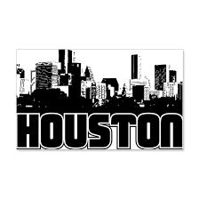 Houston Skyline 20x12 Wall Decal By Trutherdare Cafepress