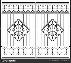 Images Grill Gate Wrought Iron Gate Door Fence Window Grill Railing Design Vector Stock Vector C Ajayshrivastava 195988422