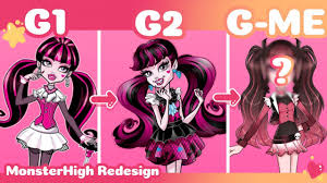 redesigning monster high characters