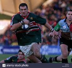 RUGBY UNION LEICESTER TIGERS - MARTIN JOHNSON Stock Photo ...