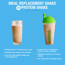 meal replacements or protein shakes