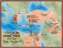 Seven Wonders of the Ancient World map | Ancient world history, Ancient  world maps, Teaching history