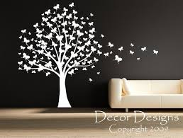 Huge Butterfly Tree With Trailing Butterflies Vinyl Wall Decal Sticker Decor Designs Decals Butterfly Wall Decals Tree Wall Decal Butterfly Wall Decor