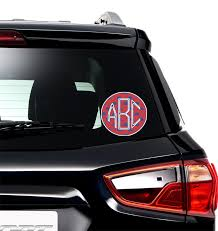 Whale Monogram Car Decal Personalized Youcustomizeit