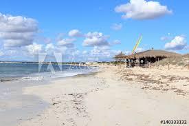 lonely platja es trenc beach panorama
