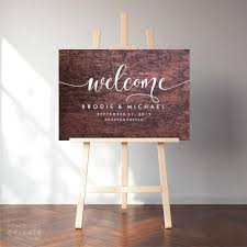 Wedding Sign Decal Welcome Sign Sticker Wedding Decor Vinyl Decal Welcome To Our Wedding Custom Names Personalised Date Hashtag Signage 2975240 Weddbook