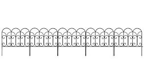 Amagabeli Decorative Garden Fence Coated Metal Outdoor Rustproof 18in X 7 5ft Landscape W Decorative Garden Fencing Metal Garden Fencing Metal Landscape Edging