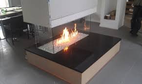 fireglass fireplace contemporary
