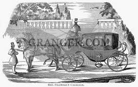 Image of FIRST LADY CARRIAGE, 1851. - Carriage Of Abigail Fillmore, Wife Of  President Millard Fillmore. From Granger - Historical Picture Archive