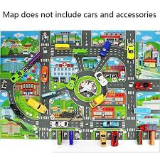 Kids World Map Rug Lioder Children World Map City Life Kids Road Traffic Play Mat Rug Large Non Slip Carpet Fun Educational For Play Area Playroom Bedroom